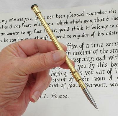 Vintage Trench Art Style BRASS DIP PEN Desk Top CALLIGRAPHY Hand Writing Display