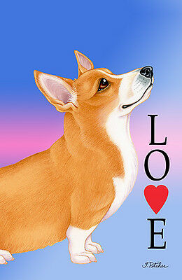 Large Indoor/Outdoor Love (TP) Flag - Pembroke Welsh Corgi 60045