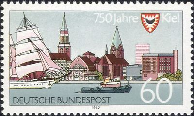 Germany 1992 Kiel 750th/Town Buildings/Architecture/Boats/Sailing 1v (n44984)