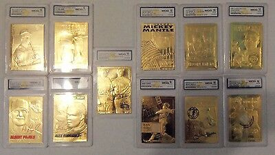 11 Baseball  23Kt Gold,6 Limited Edition,1 Signature Series, All Gem Mint 10