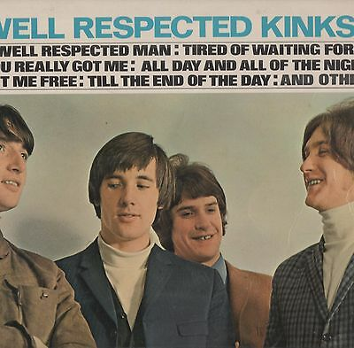 The Kinks - 'Well Respected Kinks' 1966 UK M/A Mono LP. VG!
