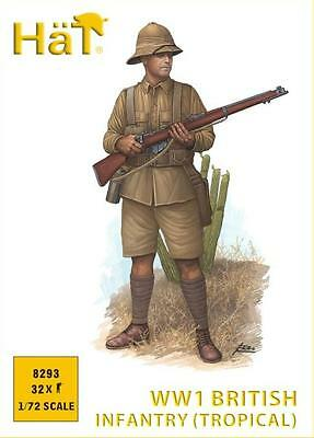HAT WWI BRITISH INFANTRY (TROPICAL)- 1:72 SCALE Figures Kit/Wargaming- 8293