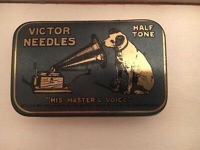 Antique RCA Victor Needles Talking Machine in Original Tin Box 1920s/30s