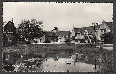 Postcard Biddestone Village nr Chippenham Wiltshire posted 1968 RP Harvey Barton