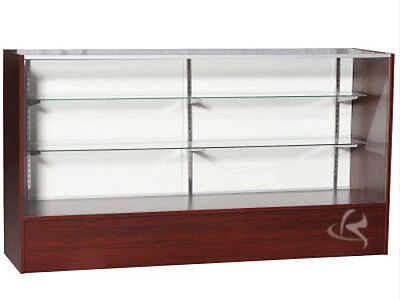 """70"""" Cherry Full Vision Showcase Display Store Fixture Knocked Down #SC6C-SC"""