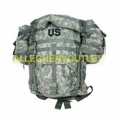 US Military Molle ACU Large Ruck sack Field Pack Complete w/ Frame & Pouches VGC