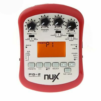NUX PG-2 Portable Electric Guitar Effect Preamp with Tuner and Metronome