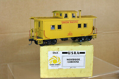 SUNSET MODELS O SCALE UNION PACIFIC UP WOODSIDE CABOOSE 3821 MINT BOXED nk