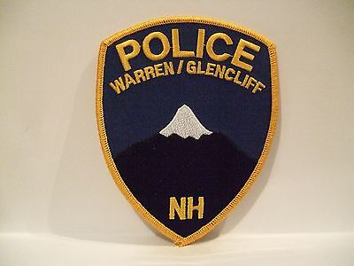 police patch   WARREN GLENCLIFF  POLICE  NEW HAMPSHIRE