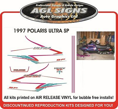 1997 POLARIS INDY ULTRA SP HOOD DECALS  GRAPHIC STICKER  reproduction