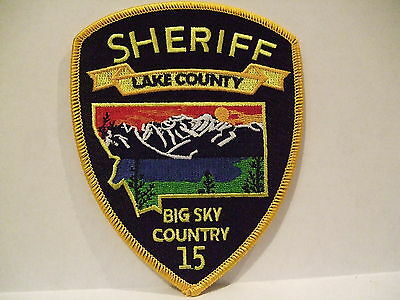 police patch  LAKE COUNTY SHERIFF MONTANA  BIG SKY COUNTRY 15