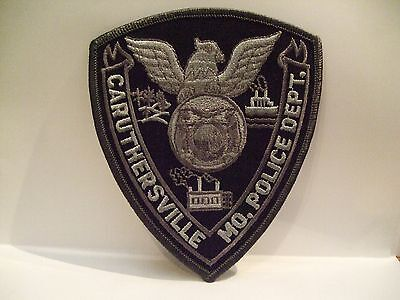 police patch  CARUTHERSVILLE POLICE   MISSOURI   SUBDUED