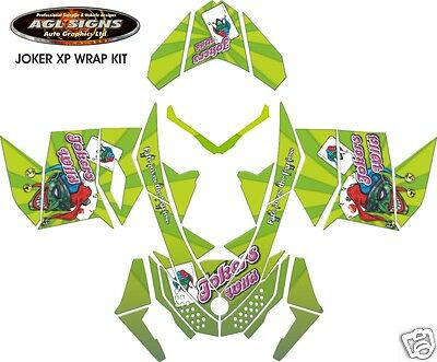 JOKERS WILD SLED WRAP  for SKI-DOO rev XP 2008-12, mxz, summit, renegade, decal