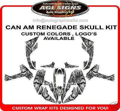 Can Am Renagade Skull Wrap   Atv Decals Stickers 800