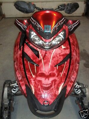 POLARIS IQ RMK RED SKULL SLED WRAP DECALS 2005 - UP switchback assault rush