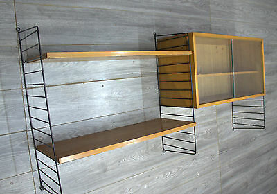 shelf system regal regalsystem container 2 b den 3 leitern original string 50er eur 260 00. Black Bedroom Furniture Sets. Home Design Ideas