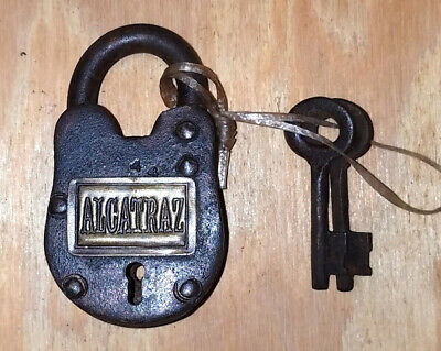 Alcatraz Working Cast Iron Lock With 2 Keys Antique Finish