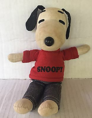 Vtg Ideal SNOOPY RAG DOLL Peanuts Determined Production Cloth