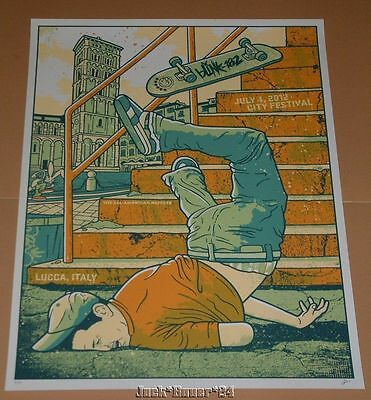 Blink 182 Gregg Gordon Lucca Italy Poster Print Signed Numbered AP Art 2012
