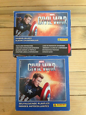 1 Box of Captain America Civil War Stickers Panini 50 Packs Party Bag Filler