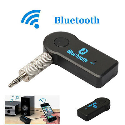 Wireless BT 3.5mm Car Aux Audio Stereo Music Receiver Adapter Microphone For PC