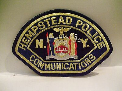 police patch  HEMPSTEAD POLICE NEW YORK COMMUNICATIONS