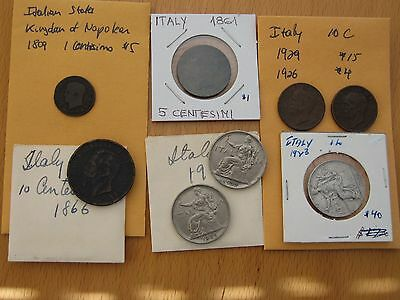 Italy Lot of 18th and early 19th Century Coins!  Other great lots listed on Ebay