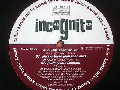 """Incognito - Always There  12"""" Anthem 1991 Ex"""
