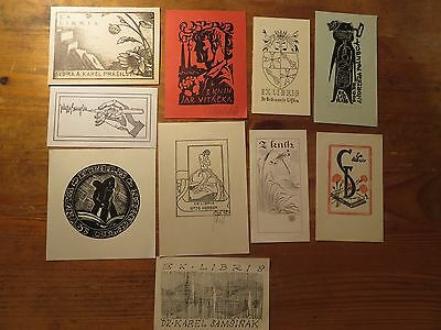 "Vintage Ex Libris Job Lot ,10 pieces ""B"""