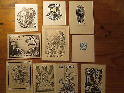 "Vintage Ex Libris Job Lot ,10 pieces ""C"""