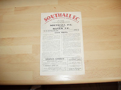 Southall v Hayes Athenian Lge 1952/3