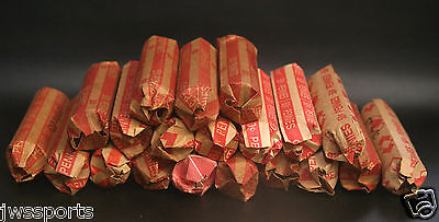 1000 Copper 1959-1982 Pennies $10 FV 20 rolls bullion random machined no WHEAT