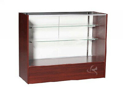 """48"""" Cherry Full Vision Showcase Display Store Fixture Knocked Down #SC4C-SC"""
