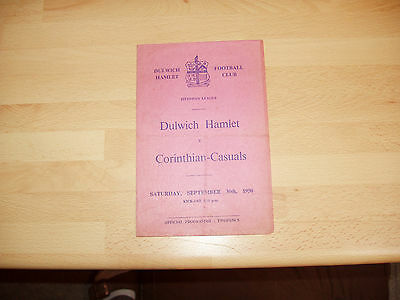 Dulwich Hamlet v Corinthian-Casuals Isthmian Lge 1950/1