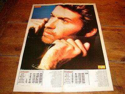 George Michael  !!!!!!!!!!!rare French Vintage Poster From The 80's