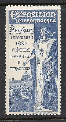Belgium 1897 Brussels Exposition poster stamp