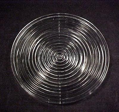 Vintage Anchor Hocking Manhattan Depression Glass 8 in Salad Plate Clear