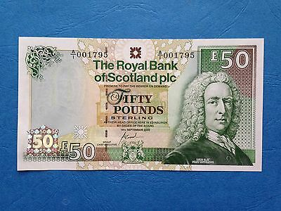Superb Royal Bank of Scotland £50 Note, A/1 prefix with lowish serial, UNC