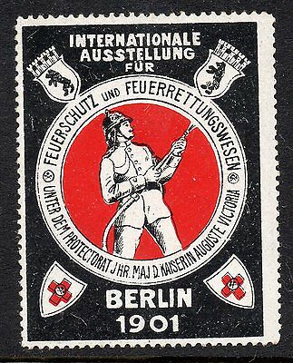 Germany 1901 Berlin Firefighting Exhibition poster stamp