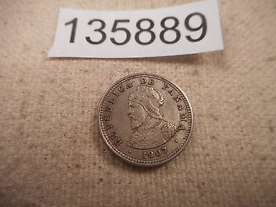 1907 Panama Medio Centesimo - Nice Collector Grade Type/Album Coin - # 135889