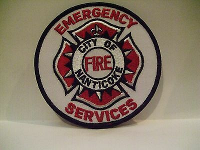 fire patch  CITY OF NANTICOKE EMERGENCY SERVICES PENNSYLVANIA