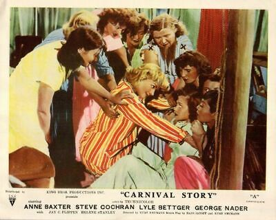 Carnival Story Original Lobby Card Anne Baxter and Kids