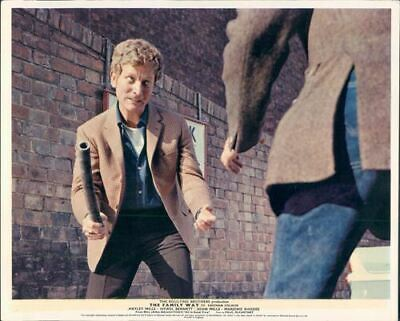 Family Way original lobby card Barry Foster brandishes weapon