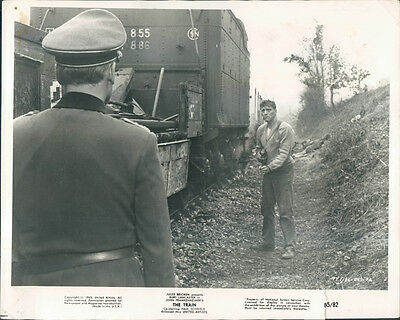 The Train Steam Original Photo 1965 Burt Lancaster Machine Gun Paul Scofield