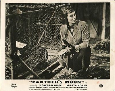 Panthers Moon original lobby card Marta Toren by cage