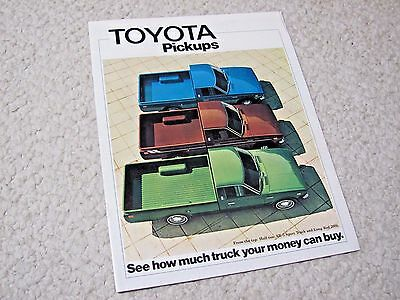 1975 Toyota Pickups (Usa) Sales Brochure..
