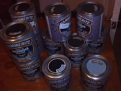 Hammerite Direct To Galvanised Metal Paint 750ml Smooth Various Colours