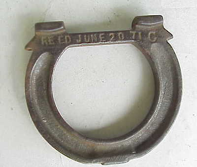 Reed Foundry? 1971 Small Cast Iron Horseshoe.