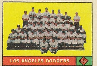 Topps 1961 #86 Los Angeles Dodgers Team Card