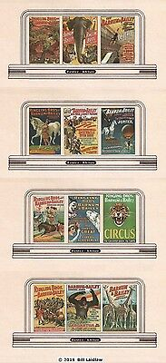 CIRCUS billboards roadside signs TT scale, all 35 billboards